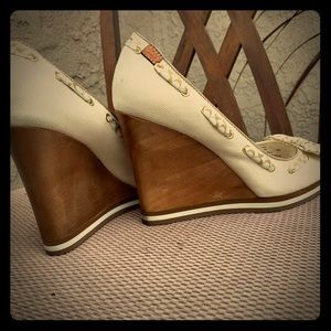 Coach wedges, size 8.